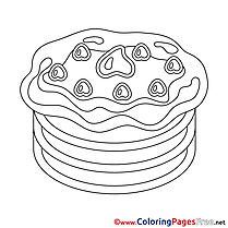 Pancake free Happy Birthday Coloring Sheets