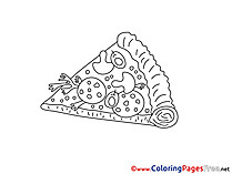 Pizza for Kids printable Colouring Page