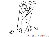 Shawarma Kids free Coloring Page