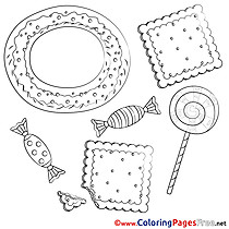 Sweets Kids download Coloring Pages