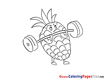 Ananas Coloring Sheets download free