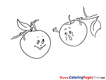 Apples free printable Coloring Sheets