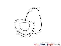 Avocado for Children free Coloring Pages