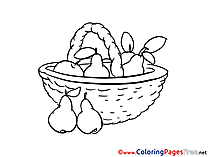 Basket download printable Coloring Pages