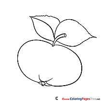 Children Coloring Pages free Apple