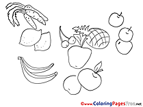 Fruits Children download Colouring Page