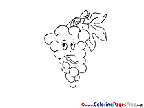 Grapes for Children free Coloring Pages