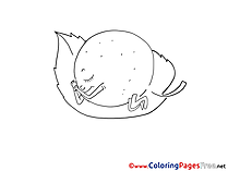 Lemon Children Coloring Pages free