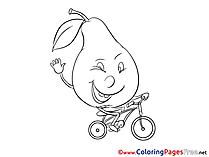 Pear for free Coloring Pages download
