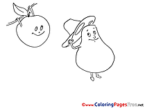 Pear printable Coloring Pages for free