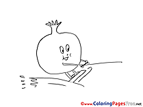 Pomegranate for Children free Coloring Pages