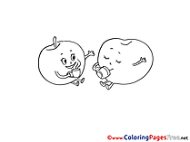 Printable Coloring Pages for free Fruits