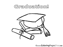 Academic Cap Coloring Sheets Graduation free