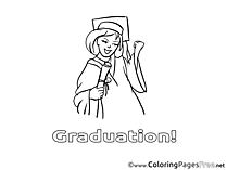 Bachelor Coloring Pages Graduation