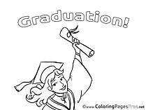 Bachelor free Colouring Page Graduation