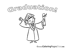 Bachelor printable Graduation Coloring Sheets