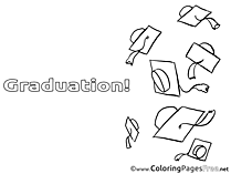 Caps Colouring Sheet download Graduation
