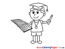 Classroom Student printable Coloring Pages Graduation
