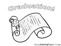 Coloring Pages Graduation Certificate
