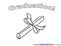 Diploma free Colouring Page Graduation