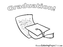 Diploma Graduation Coloring Pages free