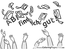 Diplomas Graduation free Coloring Pages