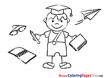 Free Graduation Student Coloring Sheets