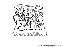 Friends Diploma Graduation Coloring Pages download