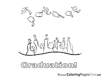 Graduation Coloring Pages free Bachelor