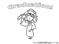 Graduation Diploma free Coloring Pages