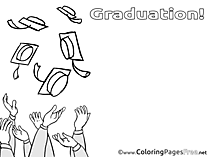 Hands Colouring Sheet download Graduation