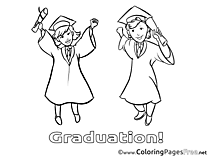 Kids Graduation Coloring Pages Bachelor
