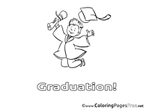 Man with Diploma Kids Graduation Coloring Pages