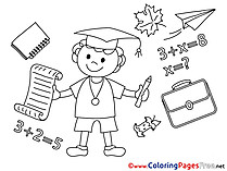 Math School Coloring Pages Graduation