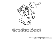 Student Colouring Page Graduation free