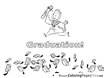 Student printable Coloring Pages Graduation