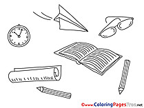Supplies School Graduation Colouring Sheet free