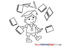 University Colouring Page Graduation free