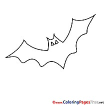 Bat Kids Halloween Coloring Pages