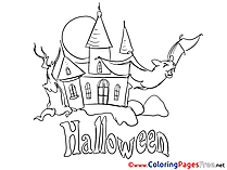 Castle printable Halloween Coloring Sheets