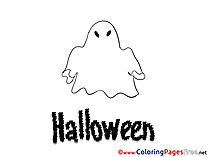 Children Halloween Colouring Page Ghost
