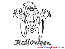 Deguise Coloring Pages Halloween