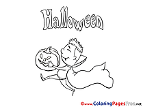 Deguise free Colouring Page Halloween
