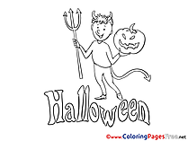 Devil Colouring Sheet download Halloween