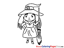 Download Witch Halloween Coloring Pages