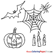 Feast for Kids Halloween Colouring Page