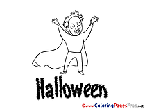 Friday 13 download Halloween Coloring Pages