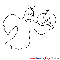 Ghost Colouring Sheet download Halloween