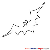 Halloween Colouring Sheet Bat free