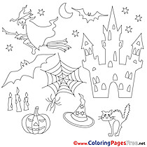 Holiday Coloring Sheets Halloween free